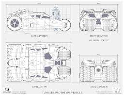 tumbler batmobile blueprint geek stuff pinterest batmobile
