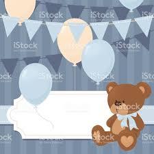 blue baby bear invitation stock vector art 477648882 istock