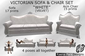Victorian Sofa Set by Second Life Marketplace Victorian Sofa U0026 Arm Chair Set