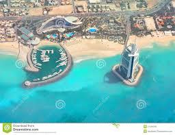 the jumeirah beach and burj al arab hotel stock photo image