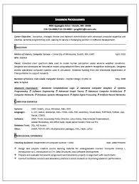 Computer Resume Best Resume For Computer Technician