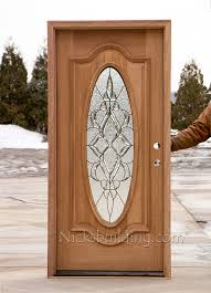 Exterior Entry Doors With Glass Wonderful Wood Entry Doors With Oval Glass Photos Ideas House