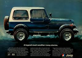 jeep renegade blue interior 1981 jeep blue renegade winter storm original color vintage ad