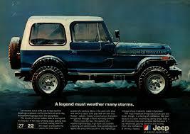 jeep scrambler blue 1981 jeep blue renegade winter storm original color vintage ad