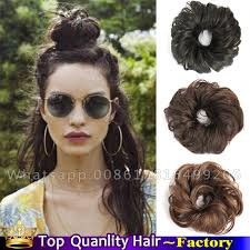 bun scrunchie synthetic hair scrunchie hair bun chignon hairpiece clip in