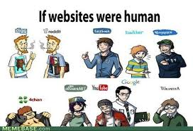 Meme Websites - if websites were human humorous pinterest internet memes
