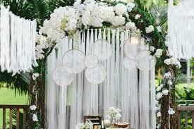 wedding arch lace garden party of selly and adit at hyatt regency yogyakarta