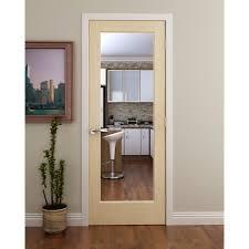 French Door Company - 1 lite french interior door with clear glass international door