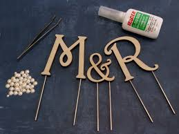 wood monogram cake toppers wooden monogram cake topper