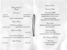 wedding ceremony programs wording sle wedding prograge key west weddings