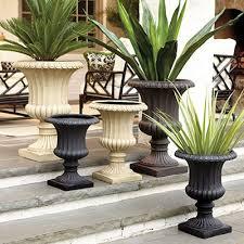 outdoor garden planters aluan tall round outdoor garden planter