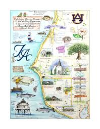 Chattanooga Map Wedding Maps Custom Map Art By Melissa Smith Venice Florida Artist