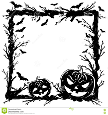 halloween background template halloween abstract background with pumpkins tree branches stock