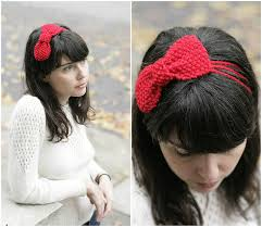 bow headbands knitting patterns galore moss stitch bow headband