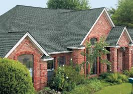 exterior design gaf timberline shingles with brick wall for