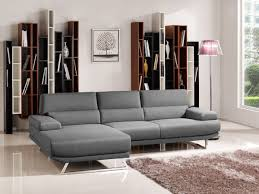 Fabric Sectional Sofa Divani Casa Trinidad Modern Grey Fabric Sectional Sofa