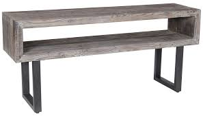 Classic Home Corsica Console Table With Black Metal Base John V - Classic home furniture reclaimed wood