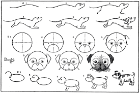 kids printable draw some dogs pug dachshund the graphics fairy