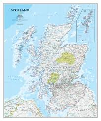 World Map Scotland by Scotland Wall Map Westeurope Countries Europe Wall Maps