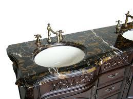 Victorian Vanity Units For Bathroom by Adelina 60 Inch Antique Double Bathroom Vanity Italtian Portoro