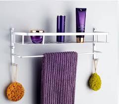 free shipping aluminum bathroom shelf single tier bath shower