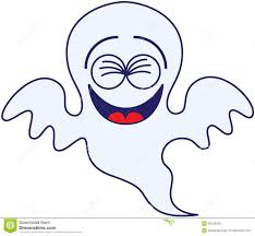 cartoon halloween ghost halloween ghost laughing enthusiastically stock vector image
