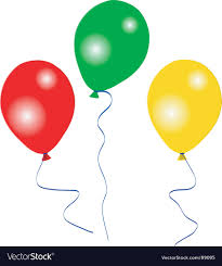 party balloons colourful party balloons royalty free vector image