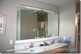 framing bathroom mirror with molding remodelaholic framing a large bathroom mirror