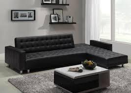 menzzo canapé menzzo sfac8 contemporain vogue canapé d angle convertible bois noir