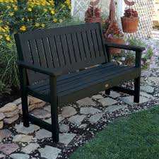 Synthetic Wood Patio Furniture by Highwood Lehigh Commercial Grade 4ft Synthetic Wood Garden Bench
