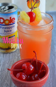 malibu drink 1 small can of pineapple juice 1 ounce of