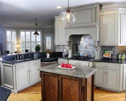 Wooden Kitchen Countertops Hanging Chain Glass Chandeliers With Granite Pattern Countertops