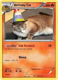Pokemon Birthday Meme - pokémon birthday cat 4 4 cat scratch my pokemon card