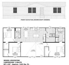 3 bedroom floor plan b 5028 hawks homes manufactured