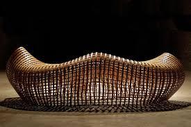 organic wood sculpture mathias pliessnig s organic benches kronodesigners