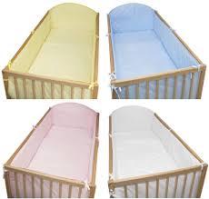 Cot Bumper Sets Toddler Nursery Long All Round Cot Bumper 140x70 420 Cm Plain