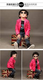 Trendy Infant Boy Clothes Fashion Baby Boys Girls Faux Leather Jackets Coat Kids Trendy Tops