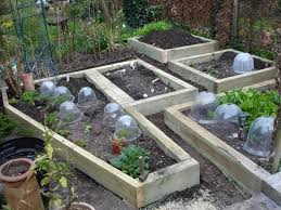 the simplicity of raised vegetable garden front yard landscaping