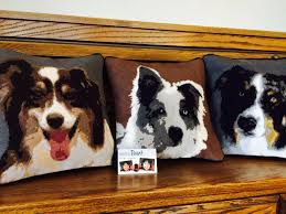 australian shepherd embroidery designs pillows needlepoint kits and canvas designs