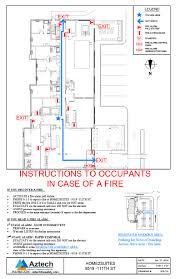 Fire Evacuation Floor Plan Template Fire Safety Plans U0026 Evacuation Plans U2013 Aztech