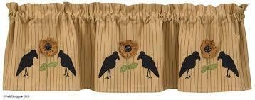 Sunflower Valance Curtains Black Curtains Sunflower Applique Curtain Valance