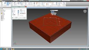 how to remove a piece from object in inventor 2013 autodesk