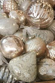 country blush mercury glass ornaments