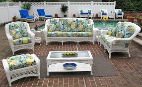 Wicker Outdoor Furniture Sets by Full Size Wicker Patio Furniture Sets