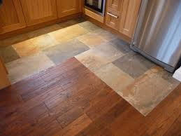 Kitchen Flooring Options by Alluring Dark Hardwood For Amusing Kitchen Flooring Design Ideas