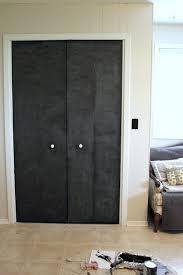 Cool Closet Doors Diy Closet Door Update Turn Plain Doors Into A Chalkboard