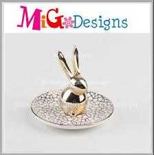 art glass rabbit ring holder images Engagement ring decorated tray engagement ring decorated tray jpg