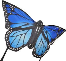 large monarch butterfly kite blue sky high kites