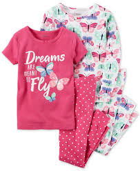 s 4 pc butterfly dreams cotton pajama set toddler