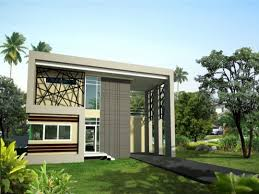 two storey house plan and design with floor flat roof designs